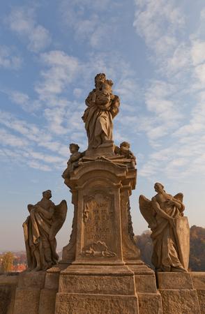 jesuit: KUTNA HORA, CZECH REPUBLIC - NOVEMBER 04, 2015: Statue of Saint Joseph (circa XVIII c.) on Barborska street in front of Jesuit College in Kutna Hora (UNESCO site). Work of sculptor Frantisek Baugut