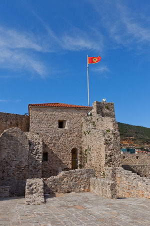 mentioned: BUDVA, MONTENEGRO - MARCH 09, 2016: Inside the Citadel (Castel St Mary) of Old Town of Budva, Montenegro. The fortress was mentioned for the first time in ancient chronicles in 1425 Editorial