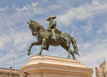 liberator: PORTO, PORTUGAL - MAY 26, 2016: Monument (circa 1866) to King Dom Pedro IV (the Liberator) at Liberdade Square in the historic center of Porto (UNESCO site). Work of sculptor Celestin-Anatole Calmel