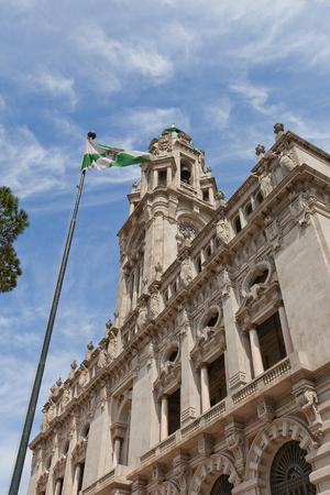 silva: PORTO, PORTUGAL - MAY 26, 2016: Municipality building (City Hall, early 20th c.) at Aliados Avenue in the center of Porto, Portugal (UNESCO site). Architects Antonio Correia da Silva and Carlos Ramos