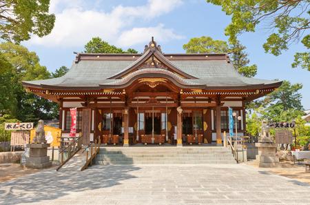 vendetta: AKO, JAPAN - JULY 18, 2016: Oishi Shinto Shrine on the grounds of Ako Castle in Ako, Japan. Shrine is dedicated to 47 loyal samurai (ronin) described in tale Chusingura
