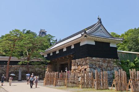 KOCHI, JAPAN - JULY 19, 2016: Otemon (Main) Gate (circa 17th c.) of Kochi castle, Shikoku Island, Japan. Kochi is one of only 12 survived castles in Japan