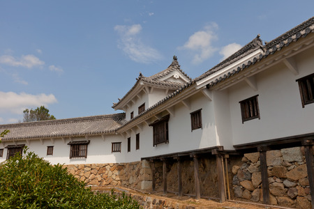 HIMEJI, JAPAN - JULY 21, 2016: Hyakkenroka (Connecting Corridor) in West Bailey of Himeji castle (White Egret Castle, 1609).