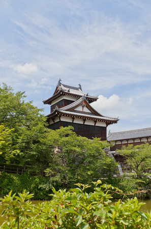 YAMATO KORIYAMA, JAPAN - JULY 23, 2016: Otemukaiyagura Turret of Yamato Koriyama castle, Nara Prefecture, Japan. Castle was erected in 1580, abandoned in 1873 and partly reconstructed in 1980s