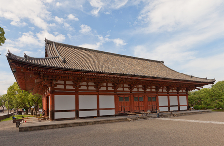 KYOTO, JAPAN - JULY 23, 2016: Kodo (Lecture) Hall (circa 1491) of Toji Temple in Kyoto. Important Cultural Property and UNESCO site