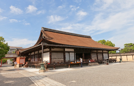 KYOTO, JAPAN - JULY 23, 2016: Miedo Hall (circa 1390) of Toji Temple in Kyoto. Former residence of Kukai (founder of Shingon Buddhism). National Treasure and UNESCO site Editorial