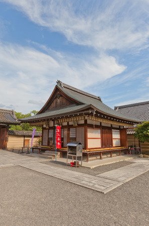 KYOTO, JAPAN - JULY 23, 2016: Small subordinate temple near Miedo Hall of Toji Temple in Kyoto. UNESCO site Editorial