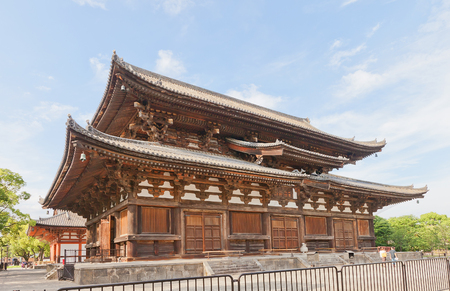KYOTO, JAPAN - JULY 23, 2016: Kondo (Main) Hall (circa 1603) of Toji Temple in Kyoto. National Treasure of Japan and UNESCO site