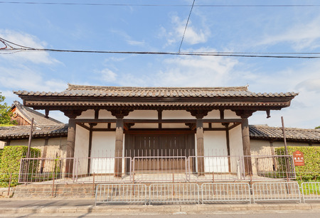 KYOTO, JAPAN - JULY 23, 2016: Rengemon Gate (circa 1191) of Toji Temple in Kyoto. Registered National Treasure of Japan