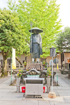 KYOTO, JAPAN - JULY 23, 2016: Monument to Kukai (founder of Shingon Buddhism) in Toji Temple in Kyoto. UNESCO site