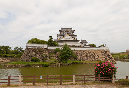 KISHIWADA, JAPAN - JULY 24, 2016: Kishiwada castle, Japan. Erected in 1585, burned down in 1827, reconstructed in 1954 Editorial
