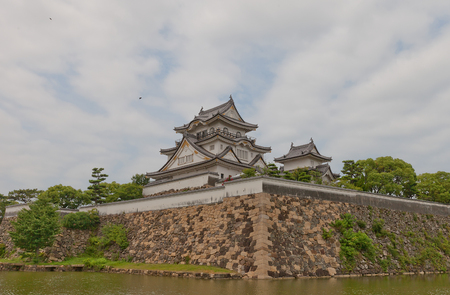 KISHIWADA, JAPAN - JULY 24, 2016: Main keep of Kishiwada castle, Japan. Erected in 1585, burned down in 1827, reconstructed in 1954 Editorial