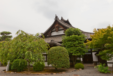 KYOTO, JAPAN - JULY 25, 2016: Living quarters with kitchen (Kuri, circa 1595) of Myoho-in Buddhist Temple in Kyoto. National Treasure of Japan