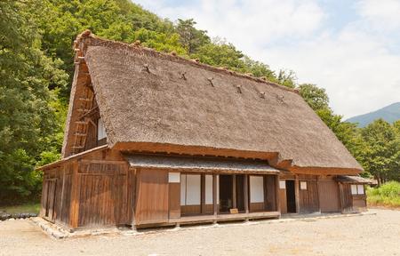 OGIMACI, JAPAN - AUGUST 01, 2016: Former Asano Chuichi House (moved from Magari area, circa 19th c.) in Ogimachi gassho style village of Shirakawa-go district.