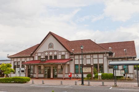 SHIRAKAWA, JAPAN - JUNE 2, 2017: Shirakawa railway station in Fukushima Prefecture, Japan. Is served by Tohoku Main Line and operated by East Japan Railway Company (JR East)