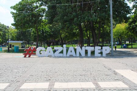 Turkish, Gaziantep, 24 June, - 2019: Gaziantep Center and very large central park.
