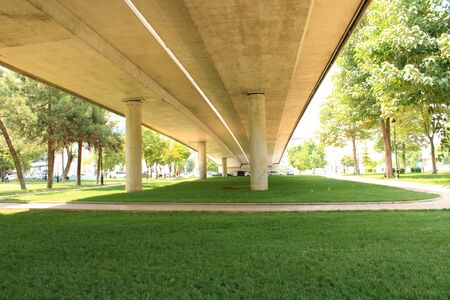 Turkish, Gaziantep, 24 June, - 2019: Overpass passing through the middle of the park Фото со стока - 139137511