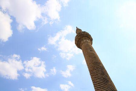 Turkish, Gaziantep, 24 June, - 2019: Historical minarets.