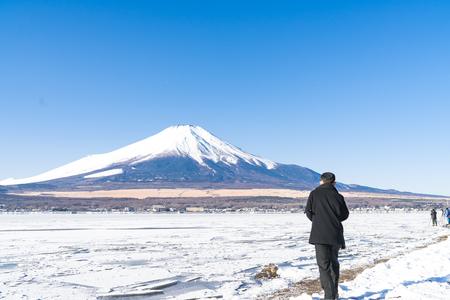 Mountain Fuji at Lake Yamanaka , Japan Stok Fotoğraf - 103052504