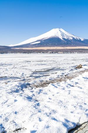 Mountain Fuji at Lake Yamanaka , Japan Stok Fotoğraf