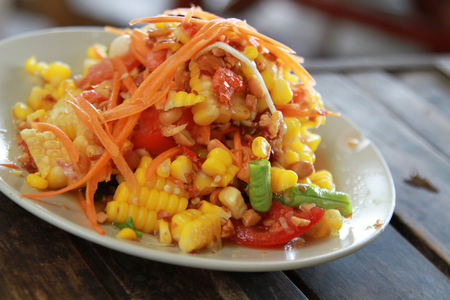 hot and spicy corn salad