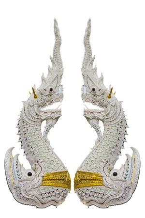 Naga,the king of snake isolated on white blackground