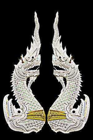 Naga,the king of snake isolated on black photo