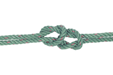 fixed line: It is Rope knot symbol isolated on white.