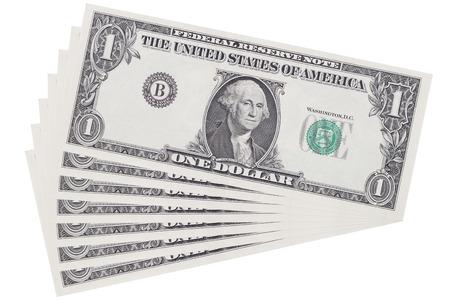 Het is de laag van een dollar op wit wordt geïsoleerd.