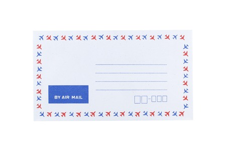 It is White envelope isolated on white. Stock Photo