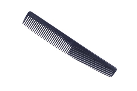 clippers comb: It is Black plastic comb isolated on white.