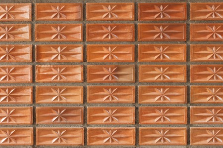 clay brick: It is Orange clay brick wall for pattern and background.