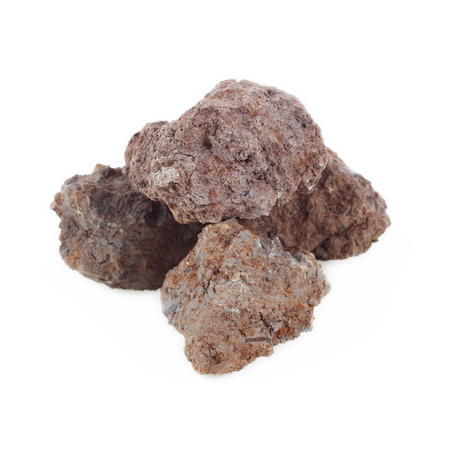 kaolin: It is Pile of soil isolated on white. Stock Photo