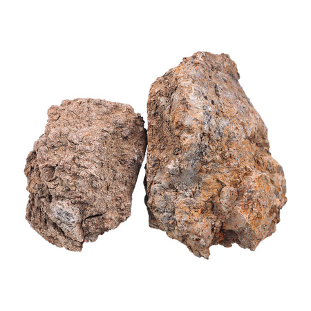 loamy: It is Two hard soils isolated on white.