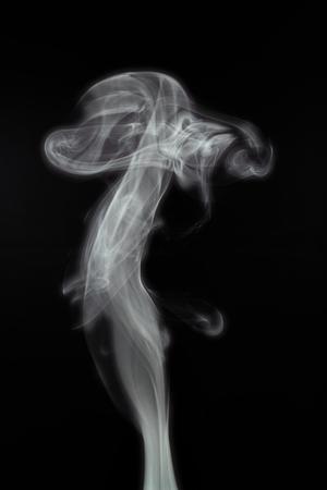 white smoke: It is White smoke isolated on black.