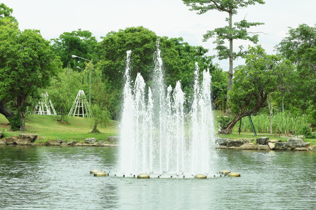 spurt: It is Fountain in park.