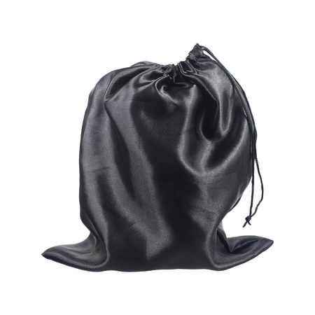 black money: It is Black money bag isolated on white. Stock Photo