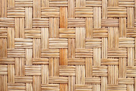 rattan mat: It is Woven rattan mat for pattern and background. Stock Photo