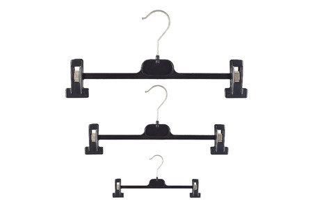 nip: it is three hangers with grip isolated on white.
