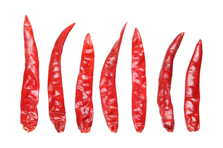 it is red dry chili isolated on white.