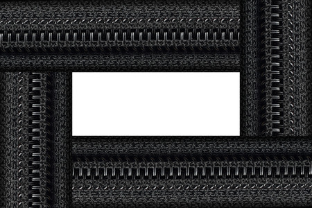 it is zipper frame for pattern. Stock Photo