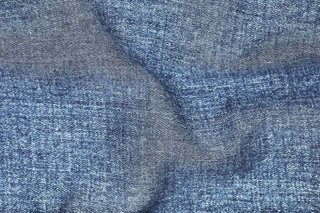 cotton fabric: it is wavy on jeans texture for pattern and background. Stock Photo