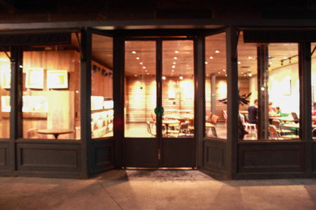 レストラン フロント パターンや背景のぼかしです。