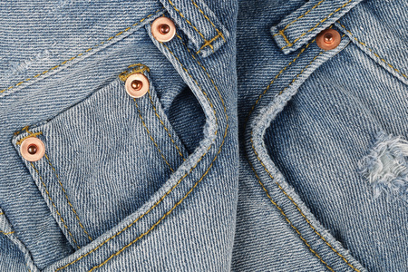 jeans pocket: it is classic blue jeans pocket. Stock Photo