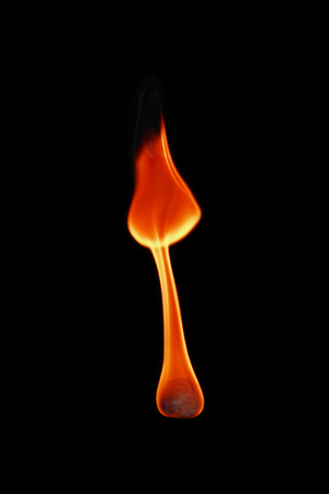 fireball: it is one fireball isolated on black.