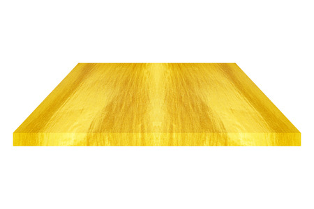 one sheet: it is one golden plate or sheet isolated on white. Stock Photo