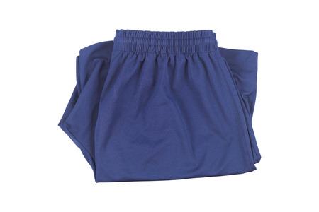 it is indigo folding short pants isolated on white.