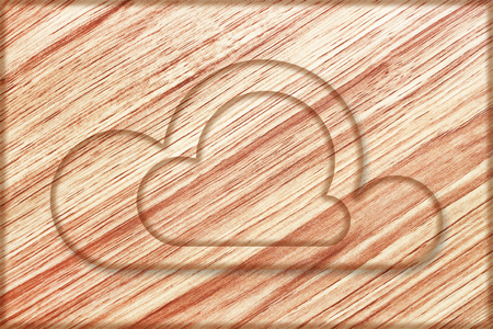 it is creative clouds sign on wooden board.