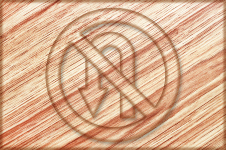 it is no left u turn sign on wooden board.