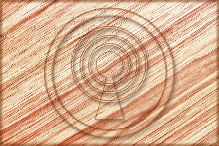 it is wireless sign on wooden board.